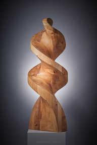 Wood sculpture beranek , www.glassart.online