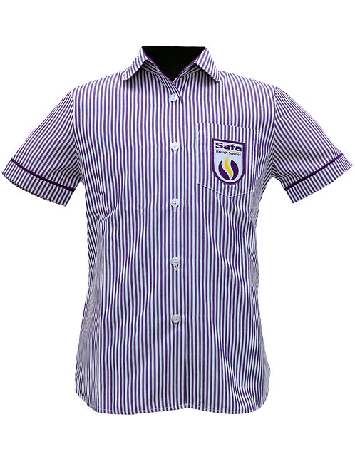 Purple Striped Blouse