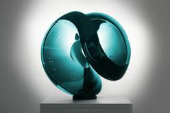 BERANEK ART-Glass art AQUA GREEN-44CM-17,32INCH.jpg