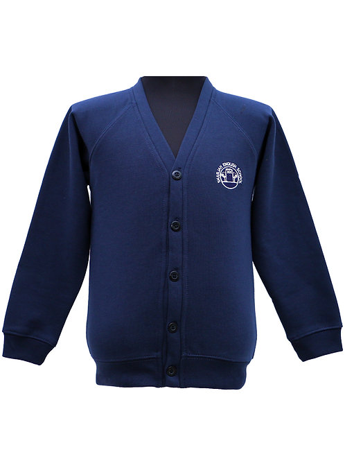 Navy Blue Fleece Cardigan
