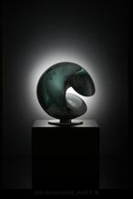 Glass Sculptures - BERANEK, ART- WAVE GREEN (44 cm - 17,32 Inch) ww.jpg