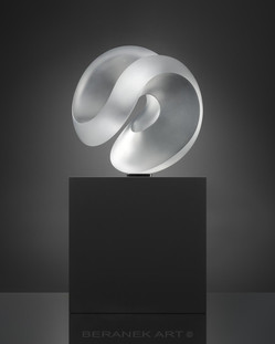 BERANEK ART , glass art - AQUA ONE TRANSPARENT SATIN-44CM-17,32 INCH.jpg