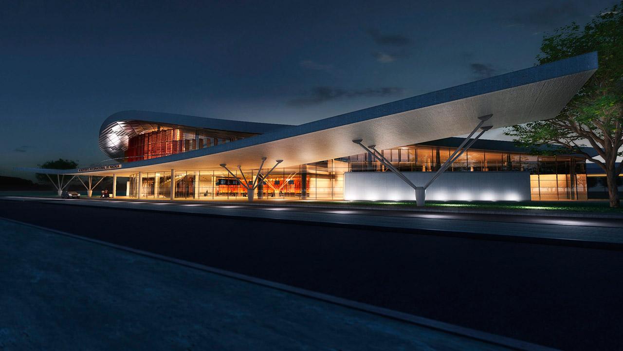 004C-Vista-fachada--noturna-aeroporto-Nakala