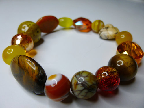 'Honey Daze' - Unique Handmade Beaded Bracelet