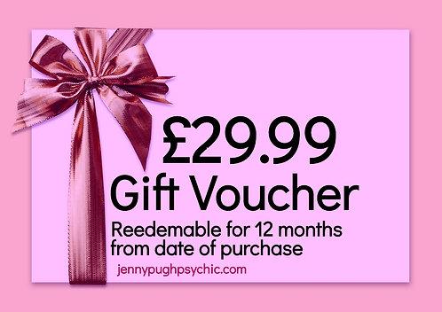 £29.99 Gift Voucher