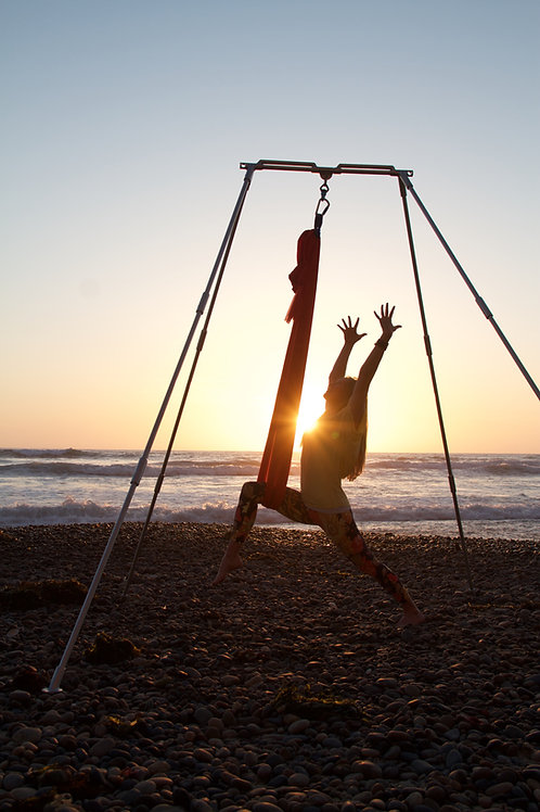 Mobile Aerial Yoga Rig with Hammock Kit