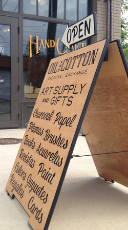 Oil and Cotton sandwich board sign_edited