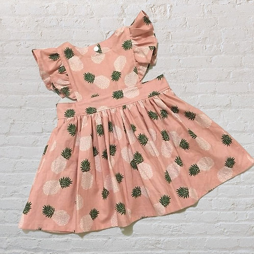 Polly Pinafore Peach Pineapple