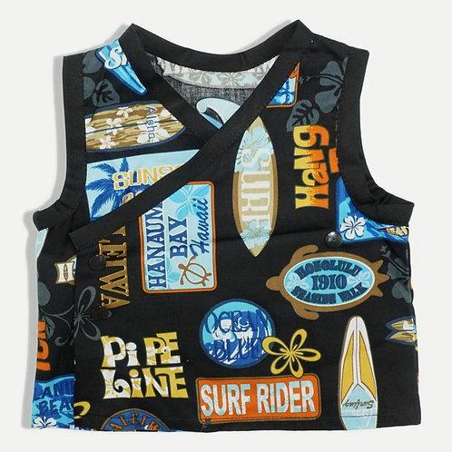 Aloha Diaper Shirt Black Pipe Line
