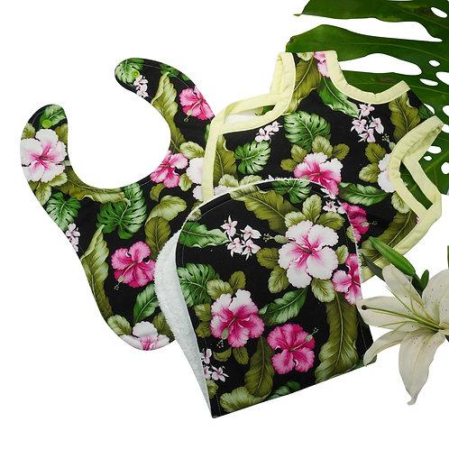 Hawaiian Bib Set Hibiscus