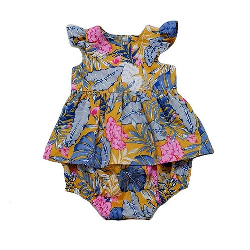 Kalo Baby Playsuit with Skirt Overlay