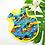 Thumbnail: Hawaiian Bib Set Hawaiian Sunset
