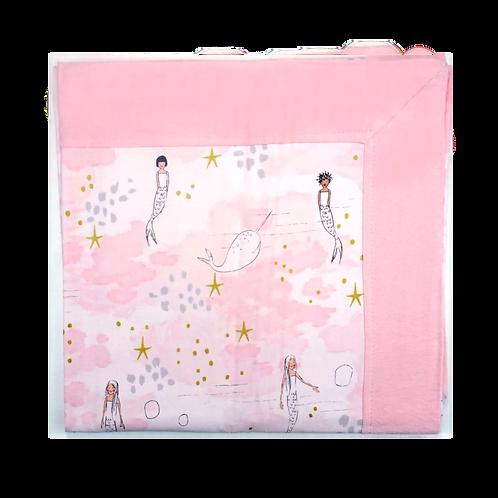 Receiving Blanket Mermaid Pink