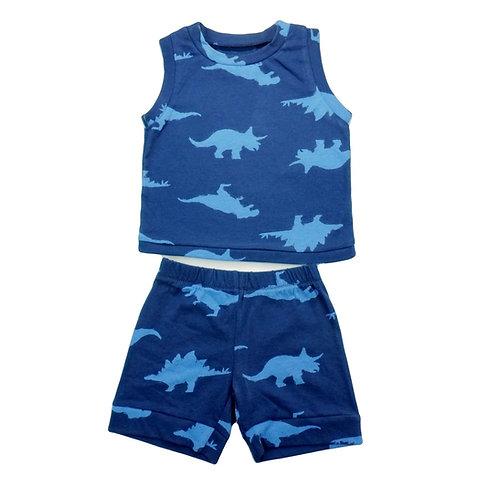 Dinosaur Navy Shirt and Shorts
