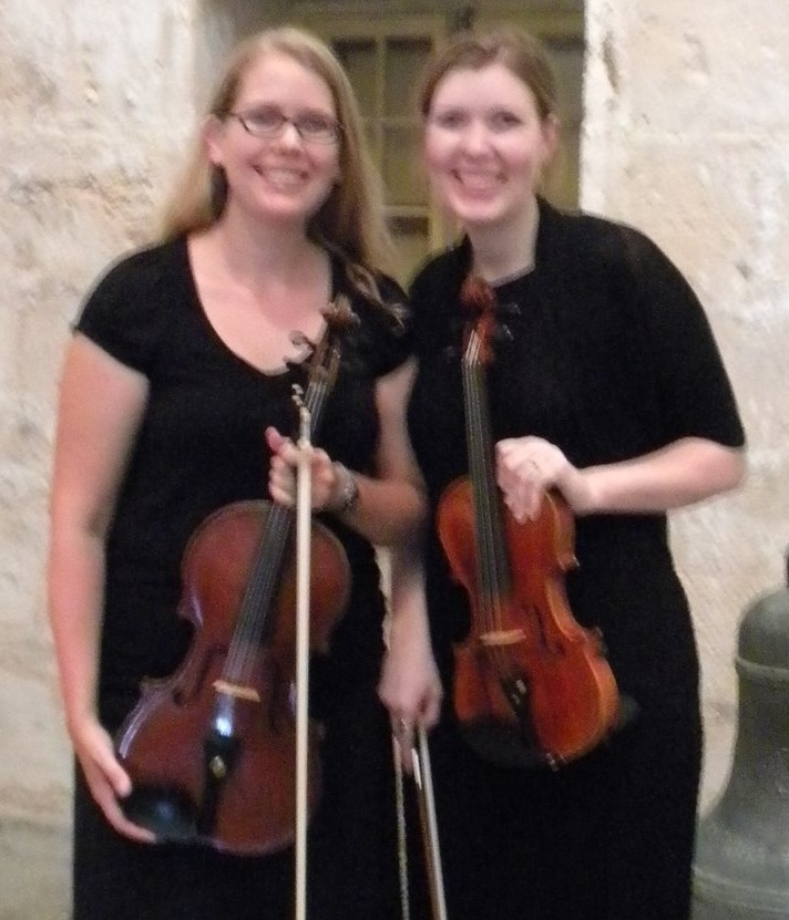 Laura & Rebecca at Dockyard concert