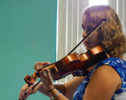 Playing at a student's Book recital