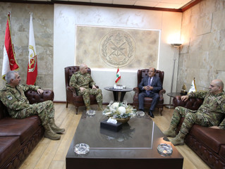 Consul Wadih Fares meets with the Chief of The Lebanese Army, General Joseph Aoun