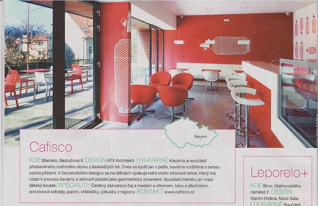 Cafisco designová kavárna Blansko