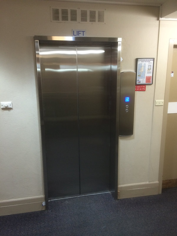otis lift after door and button modernisation and refurbishment