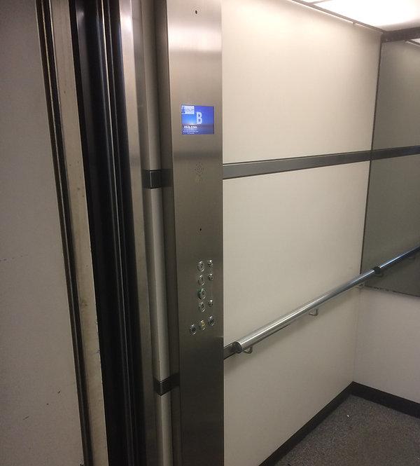 old eastern elevators lift car operating panel after modernisation