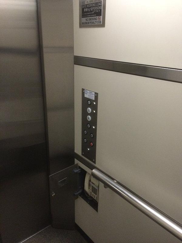 old eastern elevators lift car operating panel before modernisation
