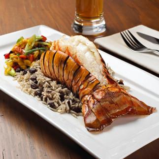 Grilled Jerk Lobster Tails