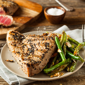 Sesame and Peppercorn Marinade for Tuna Steaks