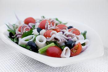 Rustic calamari salad