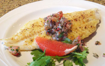 Cape cheapness with grapefruit salsa