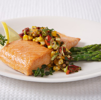 Baked Salmon with Roasted Corn Salsa