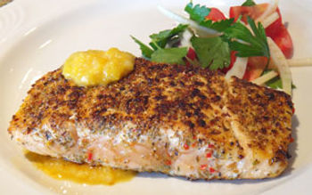 Ancho crusted salmon