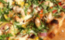 Southwestern lobster pizza