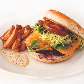 Corn Meal Crusted Halibut Burger