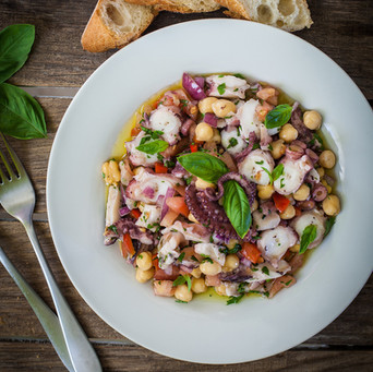 Octopus and Chickpea Salad