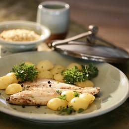 Branzino and Roasted Baby Potatoes