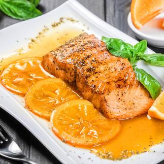 Honey Glazed Orange Salmon