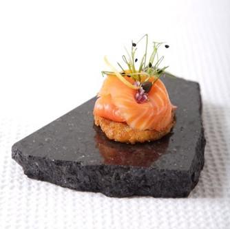 Smoked Salmon on a Mini Potato Rosti