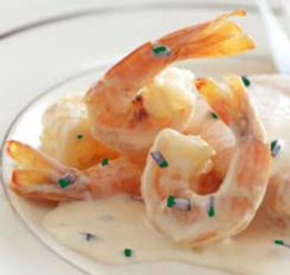 Shrimp in a pernod cream sauce