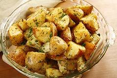 Garlic & herb roasted potatoes