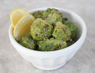 Brussels sprouts with garlic, herbs and pecans