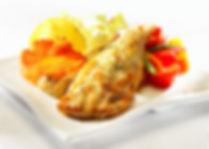 Crispy oven-fried blue cod