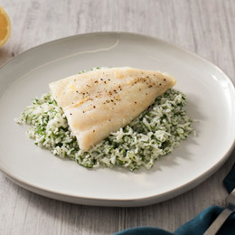 Lemon Pepper Baked Cod with Herbed Rice