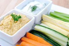 Garlic Hummus & dill dips