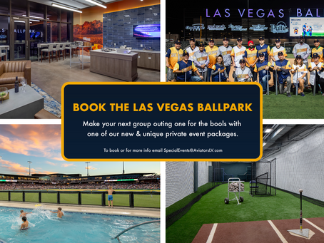 LAS VEGAS BALLPARK® IDEAL OUTDOOR VENUE FOR INTIMATE HOSTED SPECIALTY EVENTS