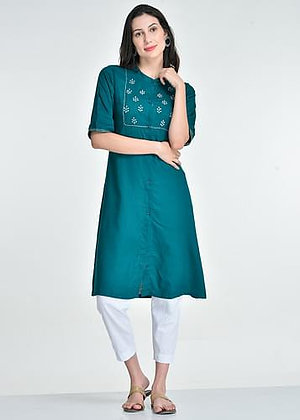 Zari Embroidered kurta