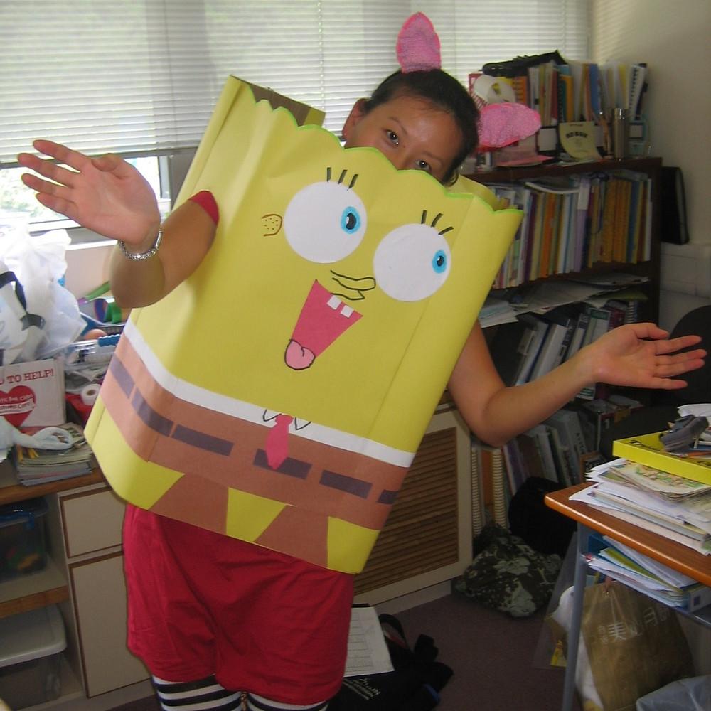 Olivia as SpongeBob