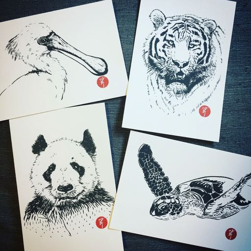 Tony's endangered animal postcards
