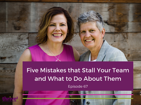 Five Mistakes that Stall Your Team and What to Do About Them