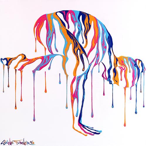 'Psychameleon - Transcendence 4.0'  Acrylic Painting
