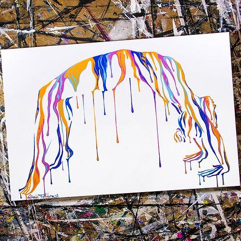 'Psychameleon - Transcendence 5.0' Acrylic Painting